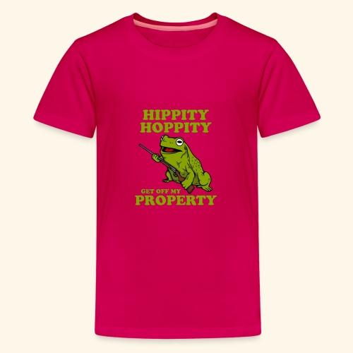hippity hoppity abolish private property - Kids' Premium T-Shirt
