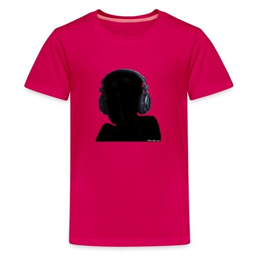 CD Music silhouette with headphones - Kids' Premium T-Shirt