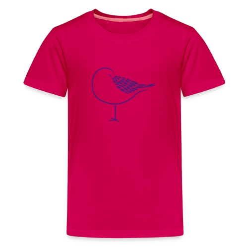 sleeping bird early dove wings seagull feather - Kids' Premium T-Shirt