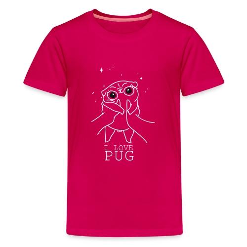 I love Pug - Kids' Premium T-Shirt