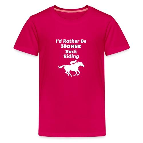 Horse riding, Horseback riding - Kids' Premium T-Shirt