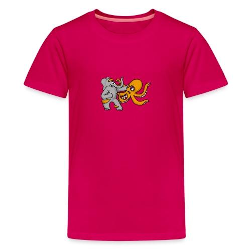 Elephant vs. Octopus T-Shirt - Kids' Premium T-Shirt