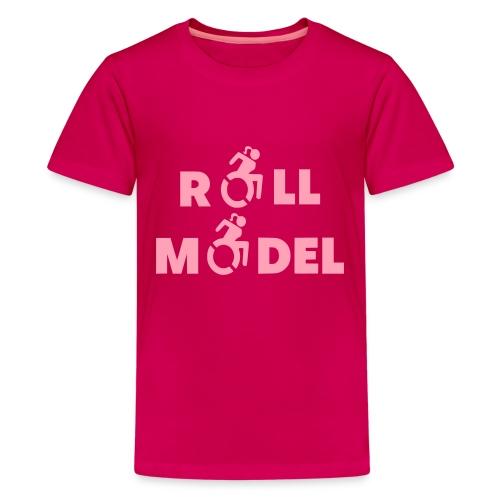 As a lady in a wheelchair i am a roll model - Kids' Premium T-Shirt