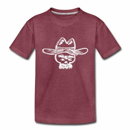 Ranchero Skull (White) - Kids' Premium T-Shirt