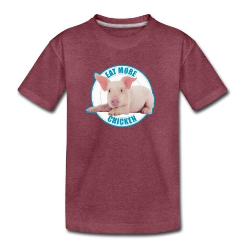 Eat more chicken - Sweet piglet print - Kids' Premium T-Shirt