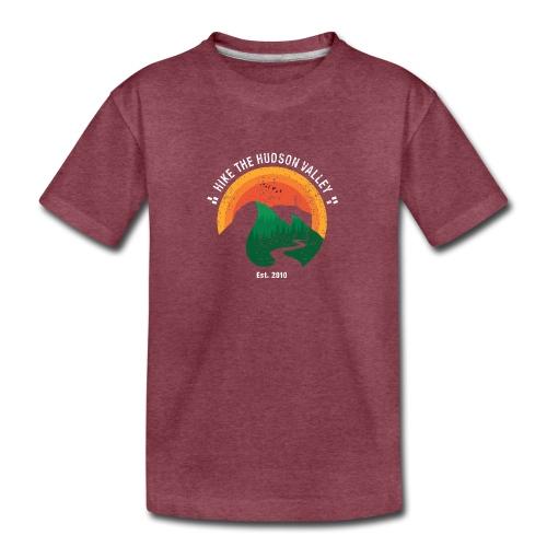 Hike the Hudson Valley (Vintage, dark bkgrnd) - Kids' Premium T-Shirt
