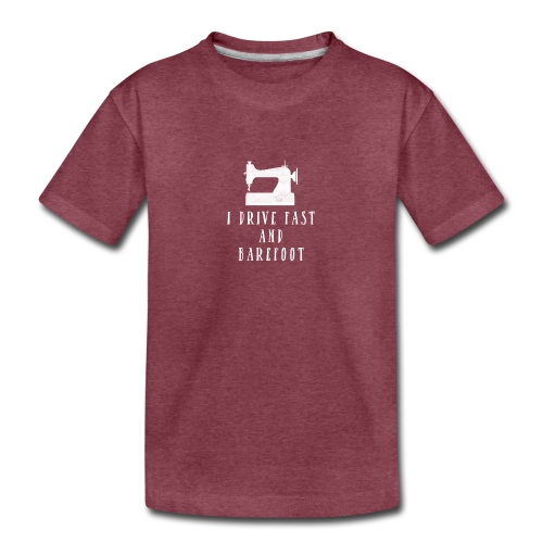 I Drive Fast and Barefoot - Kids' Premium T-Shirt