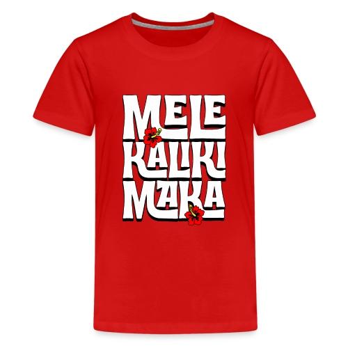 Mele Kalikimaka Hawaiian Christmas Song - Kids' Premium T-Shirt
