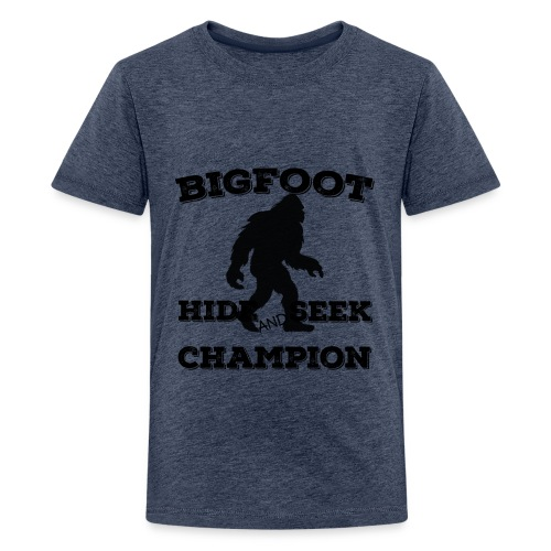 Bigfoot Hide and Seek Champin Undefeated Yeti Fans - Kids' Premium T-Shirt
