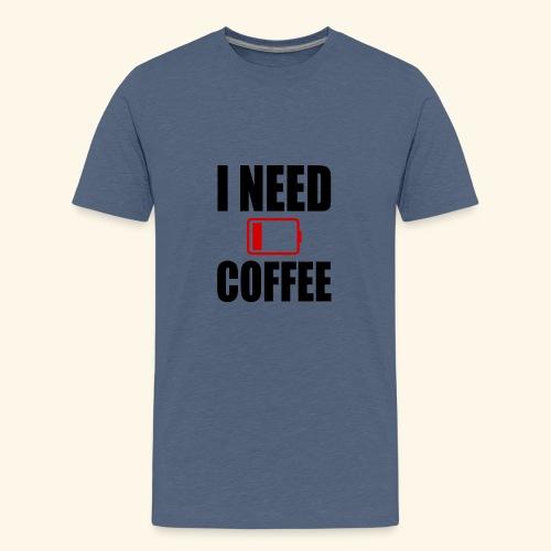 i need coffee black - Kids' Premium T-Shirt