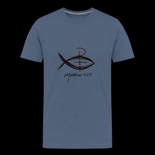 Matthew 4:19 Fishers of Men Jesus Fish - Kids' Premium T-Shirt