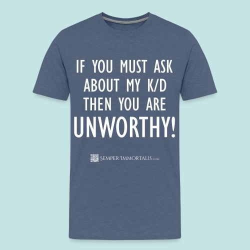 Unworthy (white) - Kids' Premium T-Shirt