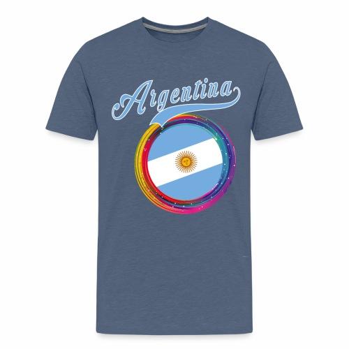 Argentina Sports Holi Color Framed Argentina Flag - Kids' Premium T-Shirt