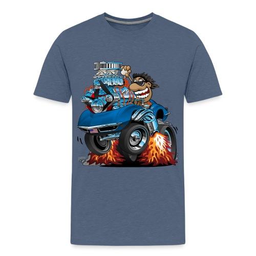 Classic '69 American Sports Car Cartoon - Kids' Premium T-Shirt