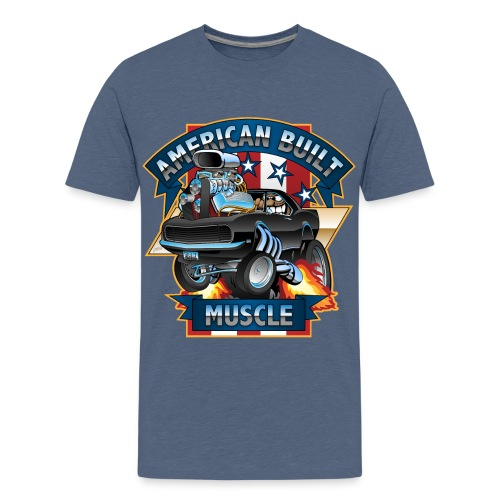 American Built Muscle - Classic Muscle Car Cartoon - Kids' Premium T-Shirt
