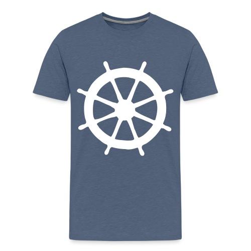 Steering Wheel Sailor Sailing Boating Yachting - Kids' Premium T-Shirt