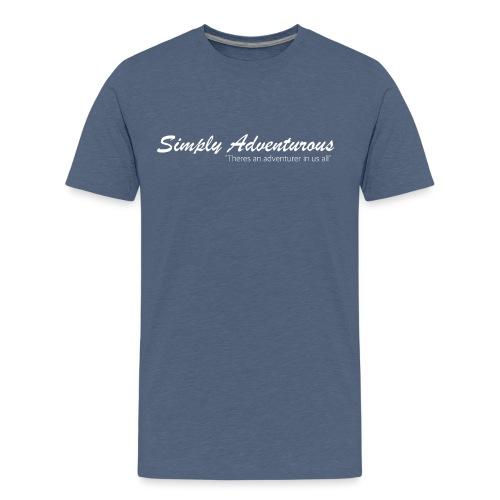 Simply Adventurous WHITE Design - Kids' Premium T-Shirt