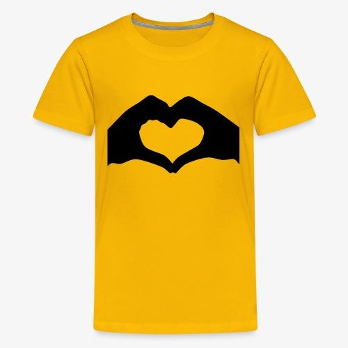 Silhouette Heart Hands   Mousepad - Kids' Premium T-Shirt