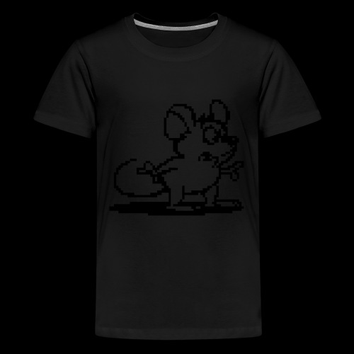 my neon blue mouse by bmx3r - Kids' Premium T-Shirt