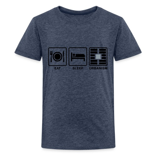 Eat Sleep Urb big fork-LG - Kids' Premium T-Shirt
