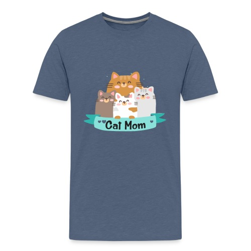 Cat MOM, Cat Mother, Cat Mum, Mother's Day - Kids' Premium T-Shirt