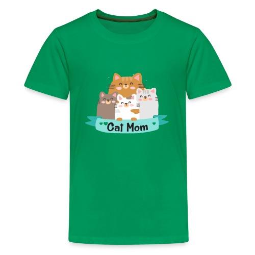 Cat MOM, Cat Mother, Cat Mum, Mother's Day - Kids' Premium T-Shirt