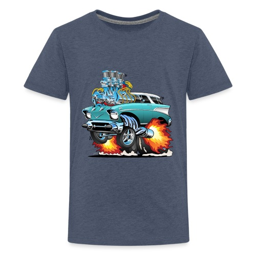 Classic Fifties Hot Rod Muscle Car Cartoon - Kids' Premium T-Shirt