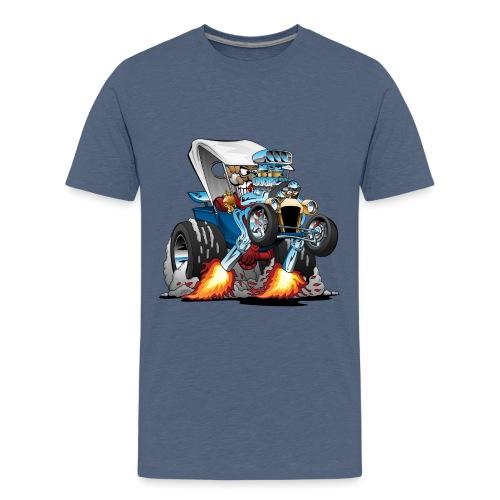Custom T-bucket Roadster Hotrod Cartoon - Kids' Premium T-Shirt