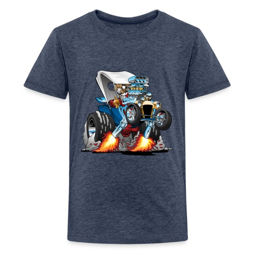 Custom T-bucket Roadster Hotrod Cartoon - Kids' Premium T-Shirt