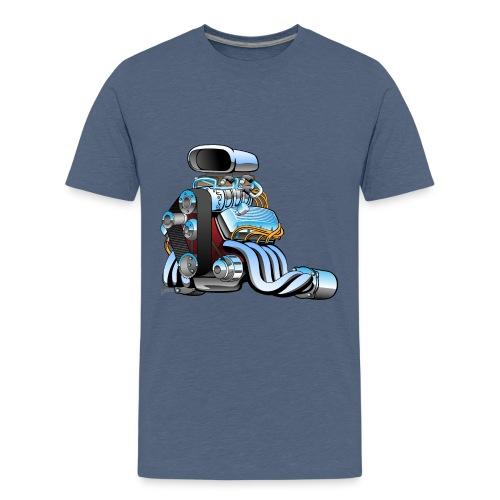 Hot rod race car engine cartoon - Kids' Premium T-Shirt