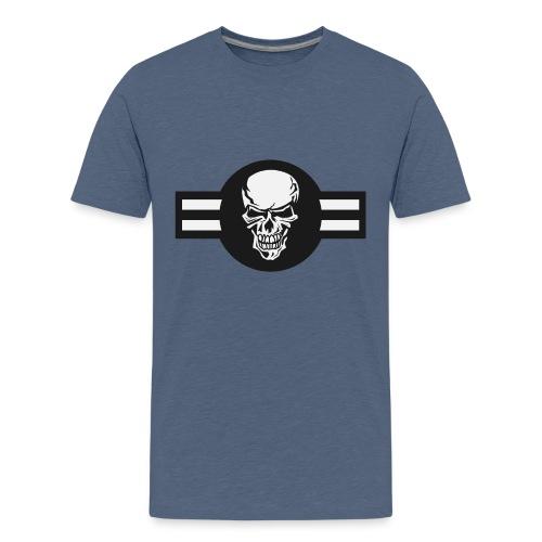 Military aircraft roundel emblem with skull - Kids' Premium T-Shirt