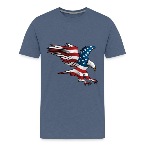 Patriotic American Eagle - Kids' Premium T-Shirt