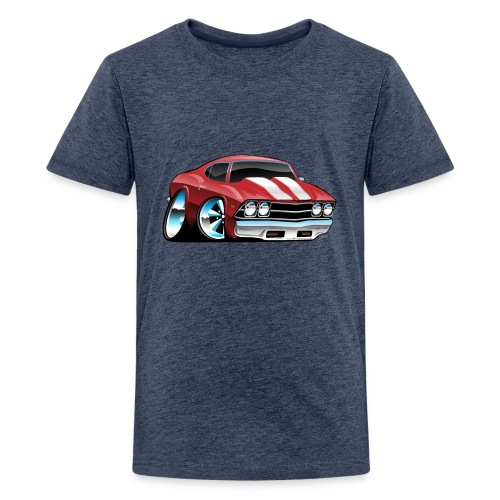 Classic American Muscle Car Cartoon - Kids' Premium T-Shirt