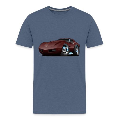Classic Seventies American Sports Car Cartoon - Kids' Premium T-Shirt