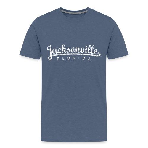 Jacksonville, Florida (Vintage White) - Kids' Premium T-Shirt