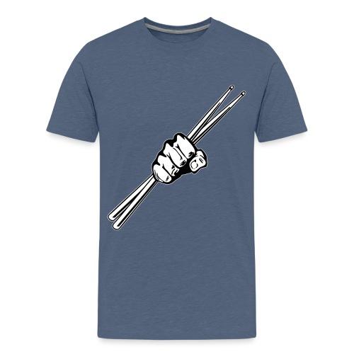 Drum Sticks Fist Punch - Kids' Premium T-Shirt