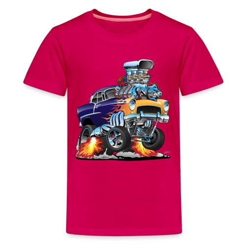 Classic Fifties Hot Rod Muscle Car Cartoon - Kids' Premium T-Shirt