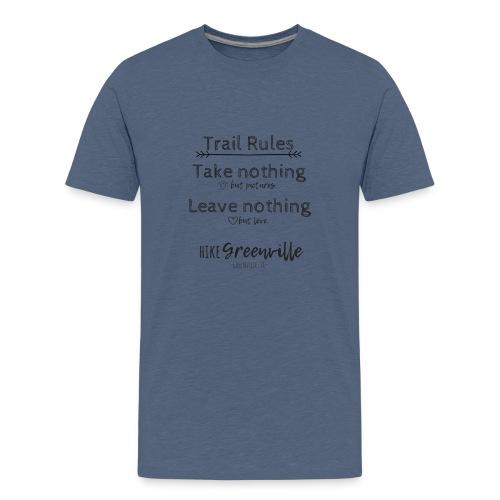 Trail Rules- Black - Kids' Premium T-Shirt