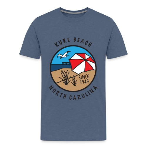 Kure Beach Day-Black Lettering-Front Only - Kids' Premium T-Shirt