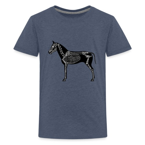 Skeleton Horse - Kids' Premium T-Shirt