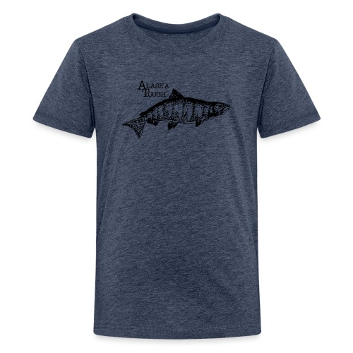 Alaska Tough Black Salmom - Kids' Premium T-Shirt