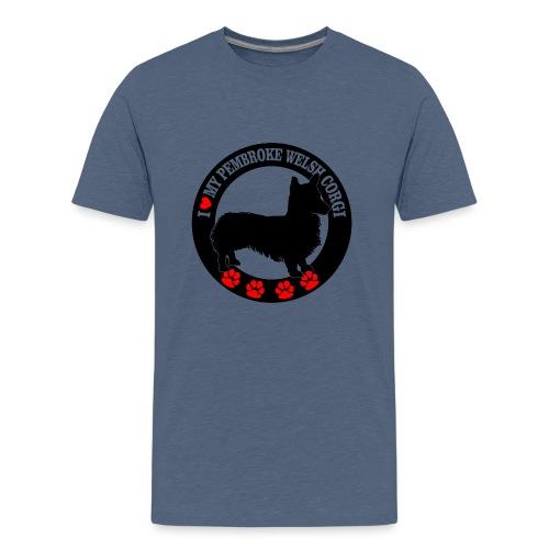 05 i love my welsh corgi copy - Kids' Premium T-Shirt