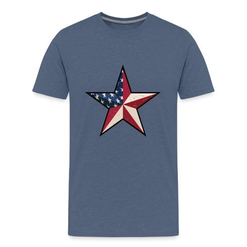 American Patriot Barn Star - Kids' Premium T-Shirt
