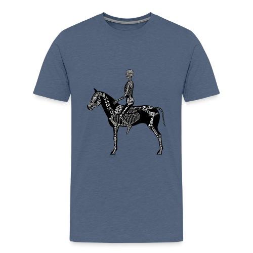 Skeleton Equestrian - Kids' Premium T-Shirt