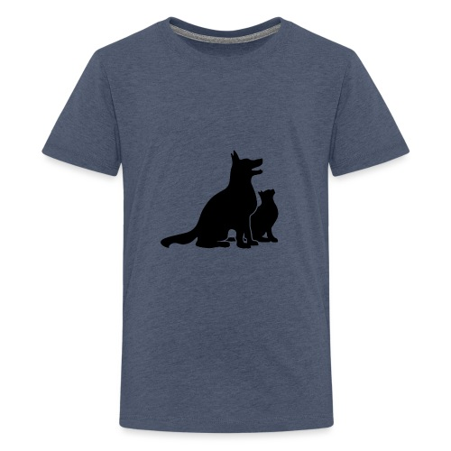 Dog and Cat Best Friends - Kids' Premium T-Shirt