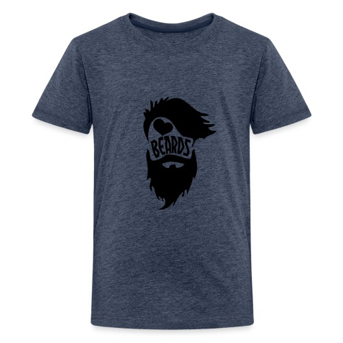 I Love Beards - Kids' Premium T-Shirt