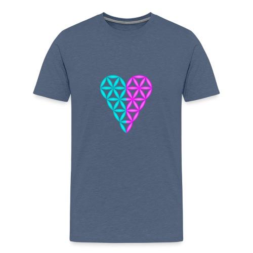 Dual Heart - Heart of Life - 3D. - Kids' Premium T-Shirt