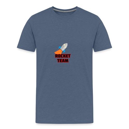Rocket Team Logo Red Text - Kids' Premium T-Shirt