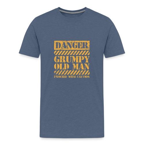 Danger Grumpy Old Man Sarcastic Saying - Kids' Premium T-Shirt