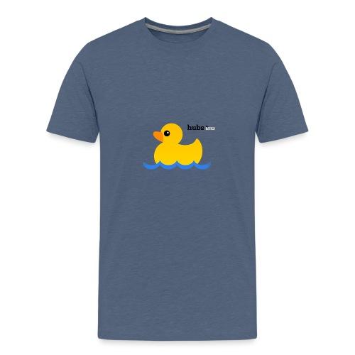 Hubs Duck - Wordmark and Water - Kids' Premium T-Shirt